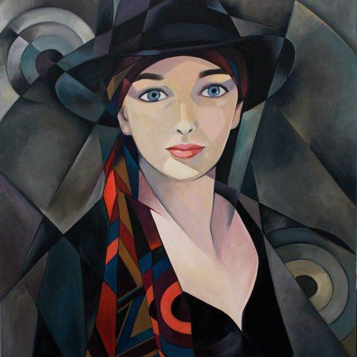 Girl In Black Hat Image