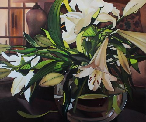 Lilies in a Fish Bowl Image